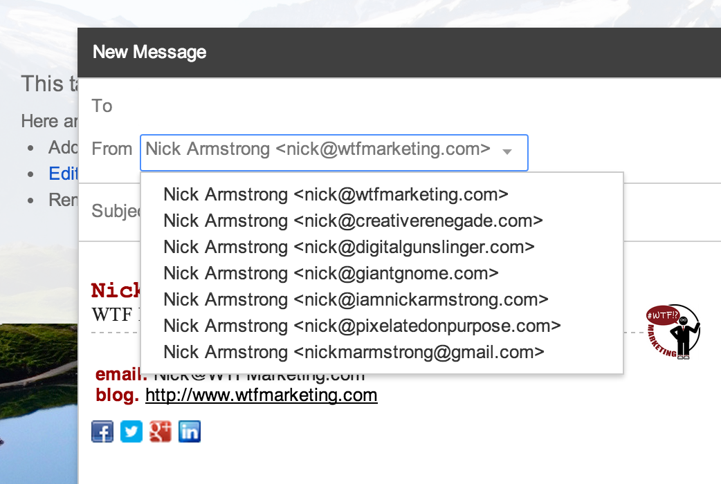 Nick's emails