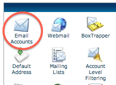 Step 1 - go to cpanel's email accounts